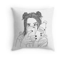 SO tumblr Throw Pillow
