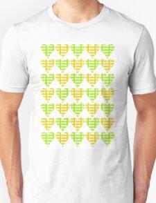 Love Hearts Abstract No.4 Unisex T-Shirt