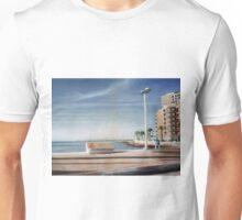 Spanish Coast Oil on Canvas Unisex T-Shirt
