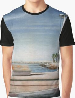 Spanish Coast Oil on Canvas Graphic T-Shirt