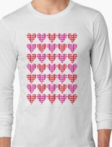 Love Hearts Abstract No.1 Long Sleeve T-Shirt