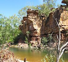 So peaceful & quiet, Umbrawarra Gorge. N.Territory Australia. by Rita Blom