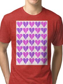 Love Hearts Abstract No.3 Tri-blend T-Shirt