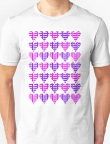 Love Hearts Abstract No.3 Unisex T-Shirt