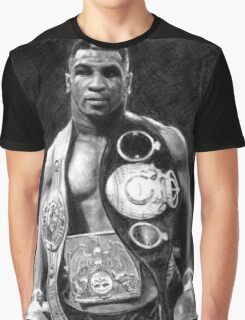 Mike Tyson Pencil Drawing Graphic T-Shirt