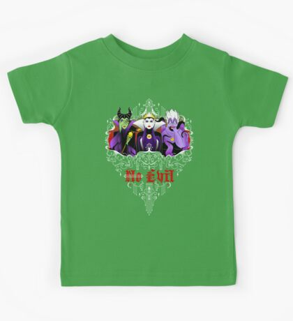 Three Wise Villains (Purple) Kids Tee