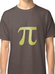 Lime Green Pi Symbol Classic T-Shirt