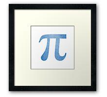 Blue Pi Symbol Framed Print