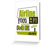 Airline Food Greeting Card