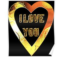 i love you heart Poster