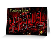 Greetings from Hell Greeting Card