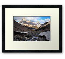 Three peaks view Framed Print