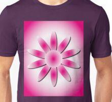 Cerise Radial Daisy Unisex T-Shirt