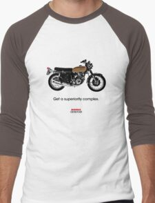 "HONDA CB750 FOUR ""GET A SUPERIORITY COMPLEX"" Men's Baseball ¾ T-Shirt"