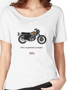 """HONDA CB750 FOUR """"GET A SUPERIORITY COMPLEX"""" Women's Relaxed Fit T-Shirt"""