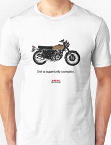 "HONDA CB750 FOUR ""GET A SUPERIORITY COMPLEX"" Unisex T-Shirt"