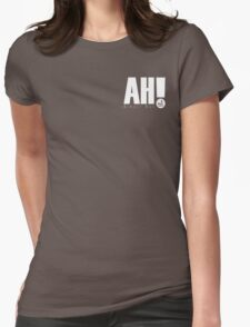AH! - White small logo Womens Fitted T-Shirt
