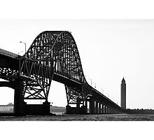 View On Fire Island Inlet Bridge And Robert Moses Water Tower | Gilgo-Oak Beach-Captree, New York Photographic Print