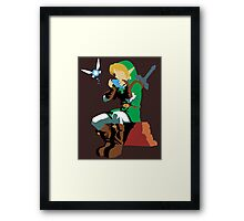 Link Playing Ocarina Framed Print