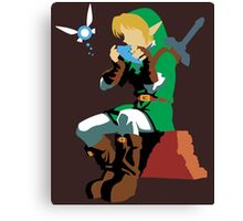 Link Playing Ocarina Canvas Print