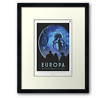 NASA Tourism - Europa Framed Print