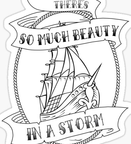 """There's So Much Beauty in a Storm"" La Dispute Sticker"