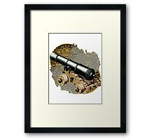 Defending The Gold Island Framed Print