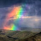 Violent Rainbow -- Sunset storm in the Sangre de Cristos by Bill Wetmore
