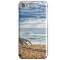 A Lonely Beach Umbrella iPhone Case/Skin