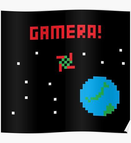 Gamera in Space! Pixel Poster