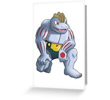 Machoke Pokemon Greeting Card