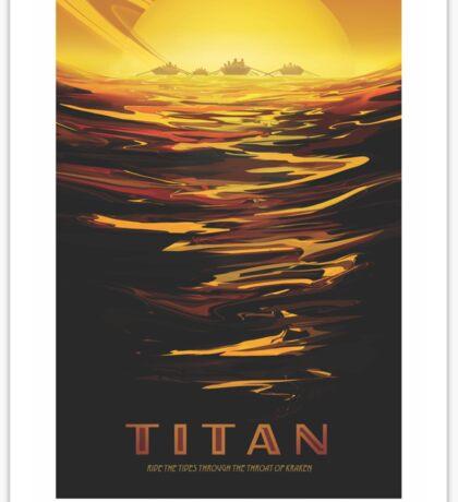 NASA Tourism - Titan Sticker