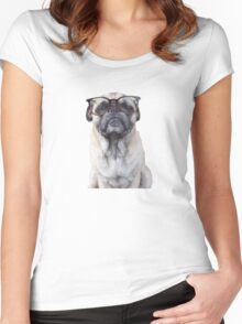 Seeing Eye Pug Women's Fitted Scoop T-Shirt