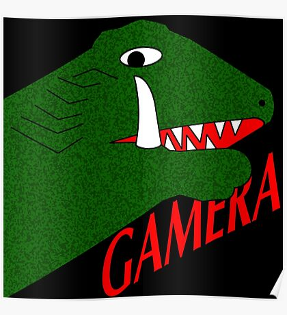 Gamera - Black Poster