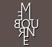 Melbourne - Mirror Text Unisex T-Shirt