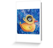 duck amused Greeting Card