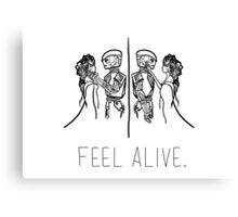 Feel Alive (Black) Canvas Print