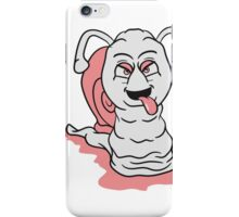 cool bad nasty snail slime grimace funny pink iPhone Case/Skin