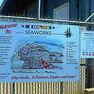 *Maritime Museum Sign on gate, Williamstown, Vic. Australia*  by EdsMum
