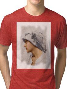 Colorized Vintage Portrait of Vincenzo Galdi by von Pluschow Tri-blend T-Shirt
