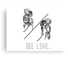 See Love (Black) Canvas Print