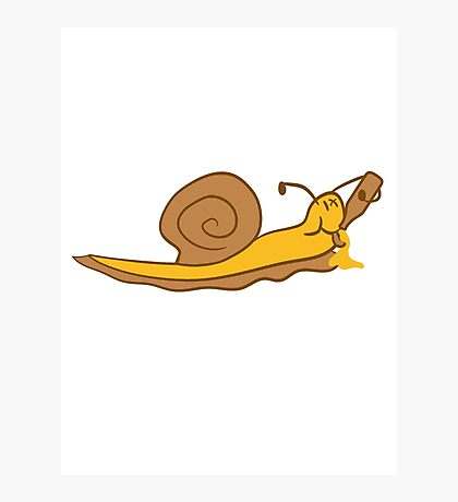drunk party drinking beer alcohol drink drunk party drunk snail Photographic Print
