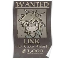 legend of zelda, link most wanted Poster