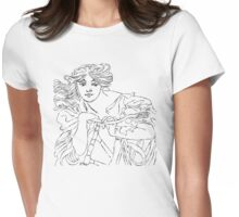 girl with the bike Womens Fitted T-Shirt