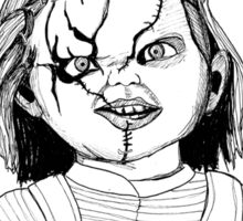 Chucky from Childs Play Sticker