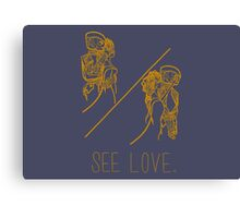 See Love (Gold) Canvas Print
