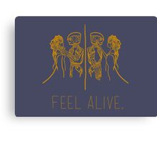 Feel Alive (Gold) Canvas Print