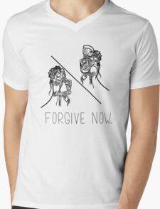 Forgive Now (Black) Mens V-Neck T-Shirt