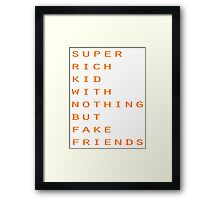 Super Rich Kid Framed Print