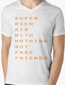 Super Rich Kid Mens V-Neck T-Shirt
